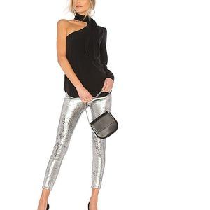 AG Farrah Skinny Ankle in Iced Silver sz 24